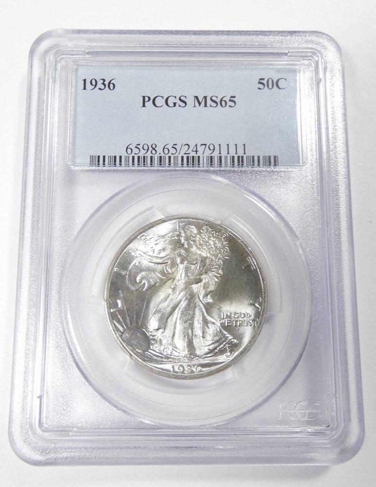 PCGS MS65 1947 US Walking Liberty Silver Half Dollar 50C