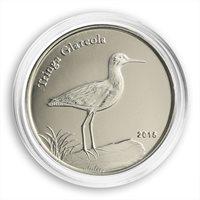 Shetland Islands, 1 pound, Tringa Glareola, bird, fauna, nature, coin, 2015