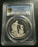 Switzerland 50 Francs 2012 Silver PCGS PR69DCAM TIRO type Mintage 75 Pieces only