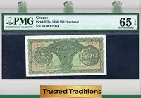 500 Drachmai 1950 Greece Pmg 65 Epq Gem Top Pop 4 At This Grade Level