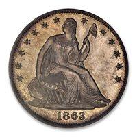 1863 50C PR64 PCGS