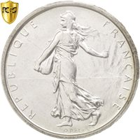[#47676] France, Semeuse, 5 Francs, 1961, Silver, PCGS MS65, KM:926