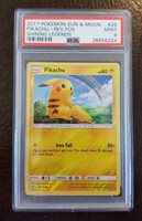 Pikachu 28//73 SM Shining Legends REVERSE HOLO Pokemon Card NEAR MINT