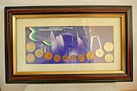 United Arab Emirates ~ Framed Coin Collection ~ 12 Coins ~ Al Jaber Group.