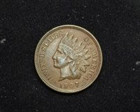 HS&C: 1907 Indian Head Cent VF/XF - US Coin