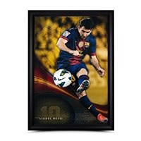 "Lionel Messi Signed Autographed 50X34 Framed Photo ""Flea Flicker"" Break-thru UDA"