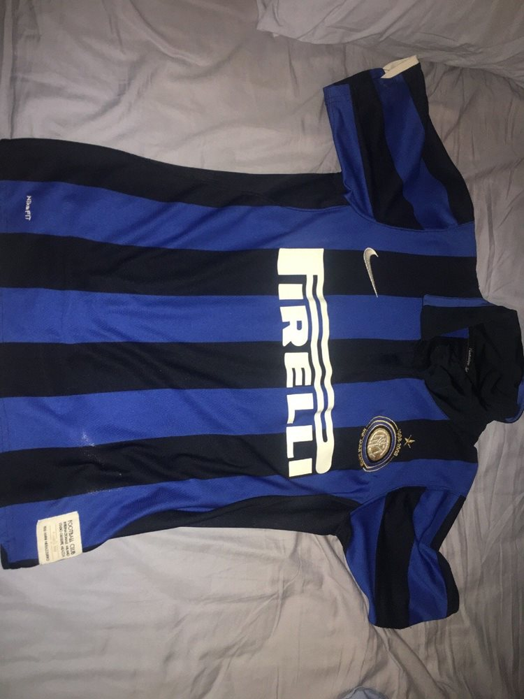 online retailer 2d3dc 10202 Zlatan Ibrahimovic Inter Milan Home Jersey Blue Size Small Men 2008  Authentic