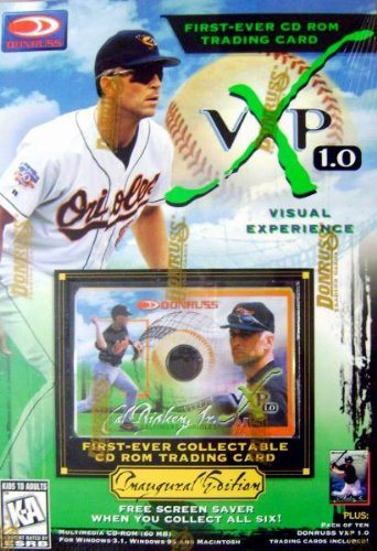 Cal Ripken Jr Cd Rom Trading Card Baseball Card Baltimore Orioles 1997 Donruss Vxp 10 New In Original Box