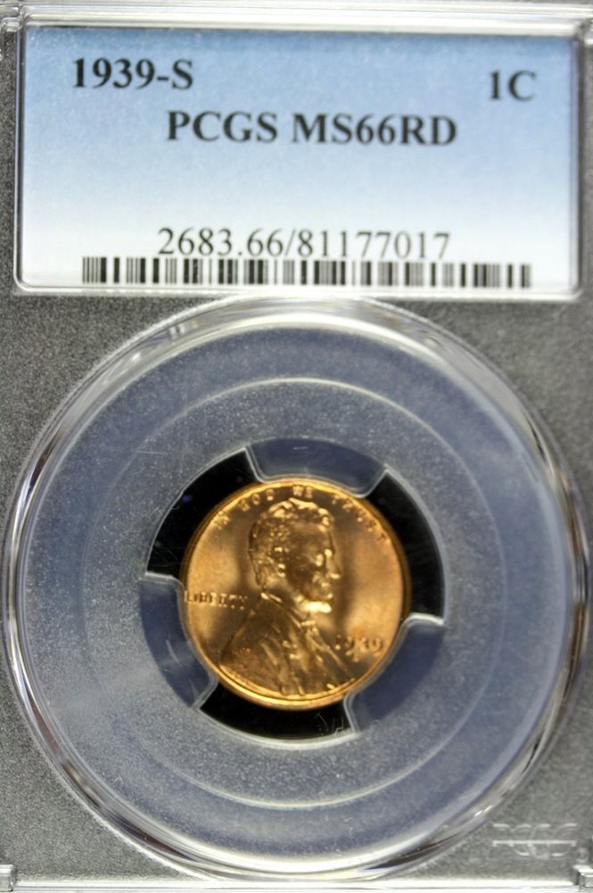 1939-S NGC MS66RD Lincoln Wheat Cent
