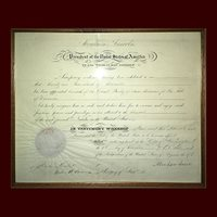 Abraham Lincoln, Partly Printed Document, Signed in Full
