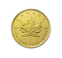 1/2 Oz Canadian Gold Maple Leaf Coin