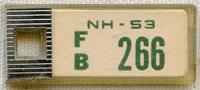 1953 New Hampshire DAV (Disabled American Veterans) Mini License Plate Key Tag (IdentoTag)