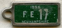 1956 New Hampshire DAV (Disabled American Veterans) Mini License Plate Key Tag (IdentoTag)