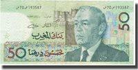 50 Dirhams 1987 Marokko Banknote, Km:64a