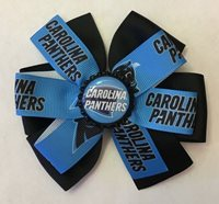 Carolina Panthers Football Inspired Bottle Cap Hair Bow Panthers Clip Barrette