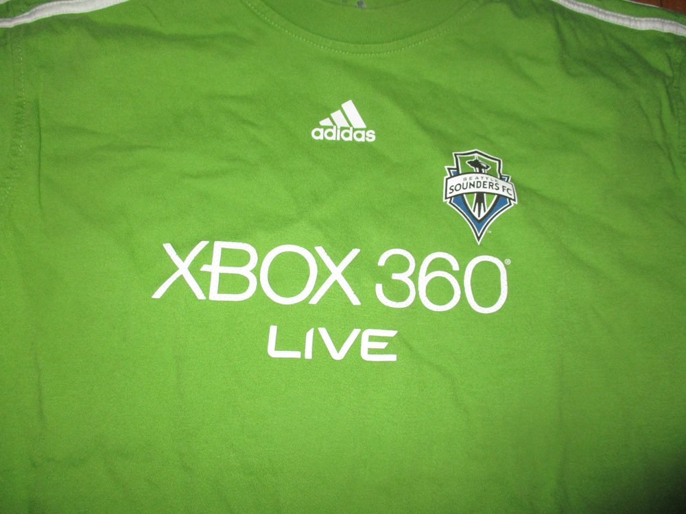 separation shoes 112db b8190 SEATTLE SOUNDERS Green Jersey T Shirt Small Adidas MLS Soccer