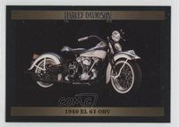 1992 Collect-A-Card Harley-Davidson Series 2 #138 1940 EL 61 OHV Card 1x9