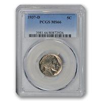 1937-D 5C Buffalo Nickel PCGS MS66