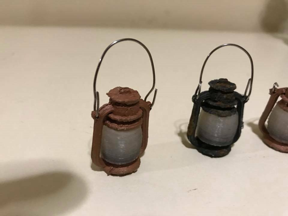 painted 1//6 Scale Medieval Lantern