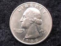 1988p Washington Quarter, MS-63, Quarter,