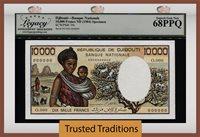 10000 Francs 1984 Djibouti Specimen Lcg 68 Ppq Superb Monster Grade