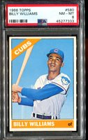 1966 Topps #580 Billy Williams CUBS PSA 8 *tough card*