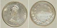 Rare Portuguese India 1912/1 Silver Una Rupia- Super Nice