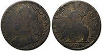 """UK 1774 George III Evasion Halfpenny """"Clauduis Romanus / Delectat Rus"""""""