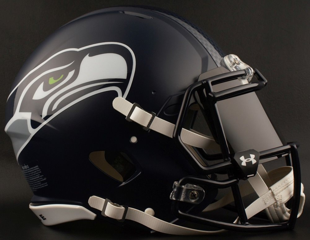 Seattle Seahawks Nfl Football Helmet With Black Tint Visor Eye Shield