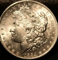 1884 O Uncirculated Morgan Silver Dollar