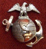 Beautiful Circa 1910 US Marine Corps Officer Collar EGA