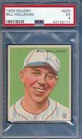 1933 Goudey Bill Hallahan Card #200 Excellent EX PSA 5