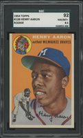 1954 Topps 128 Hank Aaron Rookie Card Sgc 85 Nmmt