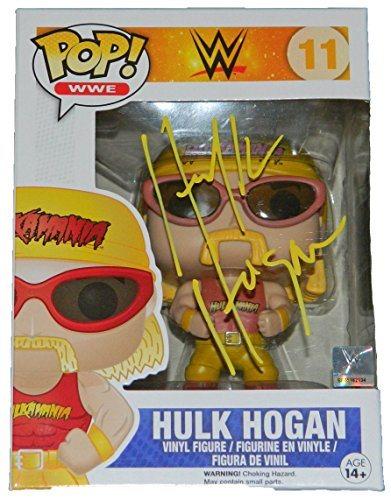 Hulk Hogan Signed WWE Funko Pop Vinyl Doll