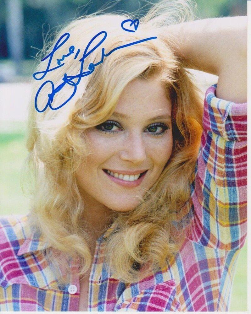 Audrey Landers Dallas audrey landers signed photo - of dallas / playboy / the landers sisters -
