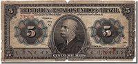 5 Mil Reis 1913 Brasilien Banknote