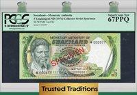 5 Emalangeni 1974 Cs1 Swaziland Pcgs 67 Ppq Superb Gem New Specimen