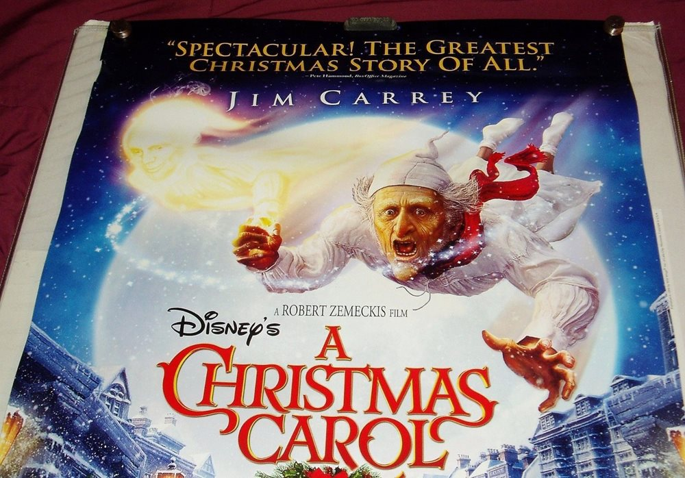 Christmas Carol Jim Carrey.Dc Disney S A Christmas Carol Animated Jim Carrey Movie Poster 26 X 40