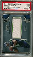 2012 Bowman Sterling Jumbo Relics Russell Wilson Rookie Card Graded PSA 9
