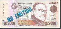5000 Nuevos Pesos 1989 Uruguay Banknote, Undated, Km:68a