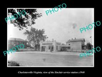OLD 8x6 HISTORIC PHOTO OF CHARLOTTESVILLE VIRGINIA SINCLAIR GAS STATION c1940
