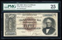 FR.328 1880 $50 SILVER CERTIFICATE PMG25 VF+ RARE!!!
