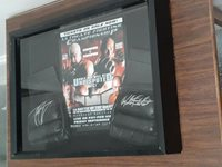 UFC 44 Autographed mma gloves Tito Ortiz & Randy Couture shadow box display