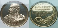 NGC--MS 61**Silver Medal--1894 Saxe-Weimar-Eisenach 'Death of Carl August'/42mm