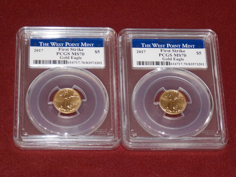 2019 $5 American Gold Eagle 1//10 oz PCGS MS70 First Strike Flag Label