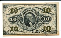 FR1255 10c US Fractional Currency