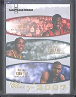 21bdc84dfeb 2007-08 Fleer Hot Prospects Class of 2007  2007-A Kevin Durant Oden and  Conley