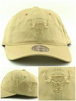 70f97b030ae679 Chicago Bulls New Mitchell & Ness Women Ladies Beige Tan Era 47 Dad Hat Cap