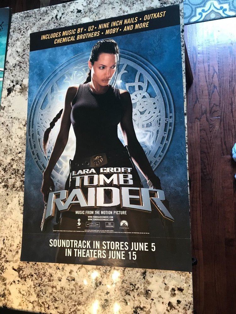 Laura Croft Tomb Raider Soundtrack Promo Poster Angelina Jolie 26x18