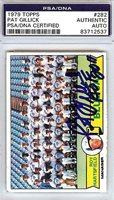 Pat Gillick Signed 1979 Topps Card #282 - PSA/DNA Authenticated - MLB Baseball Cards